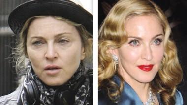 Celebridades antes y después del maquillaje: lo bueno, lo malo y lo feo!