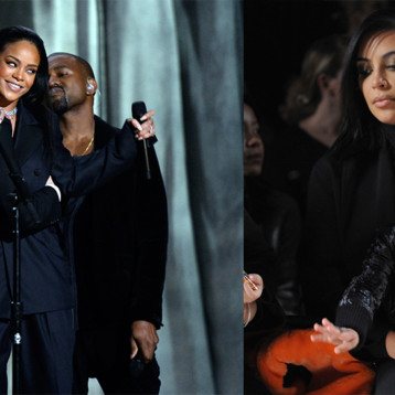 "Esta fue la reacción de Kim Kardashian tras ""pillar"" a su esposo mirando a Rihanna 😳 [+Video]"