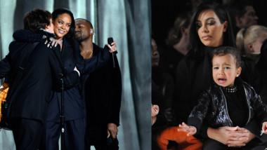 "Esta fue la reacción de Kim Kardashian tras ""pillar"" a su esposo mirando a Rihanna  [+Video]"