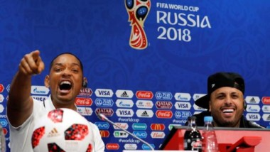 La alocada y divertida rueda de prensa de Will Smith junto a Nicky Jam en Rusia (Video)